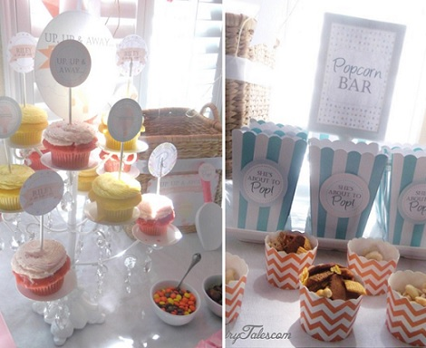 ideas baby shower globos nino cupcakes