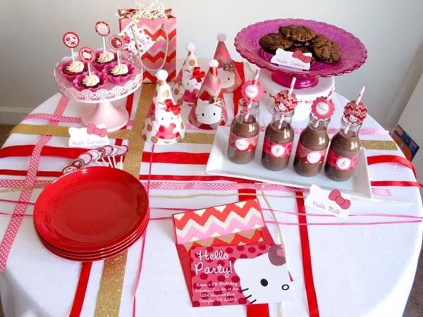 fiesta de hello kitty decoracin para una fiesta infantil