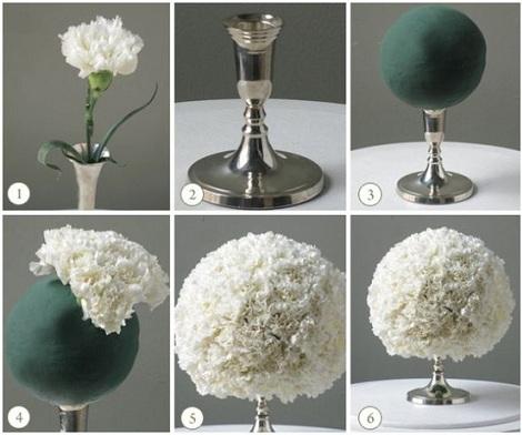 centros de mesa flores casero