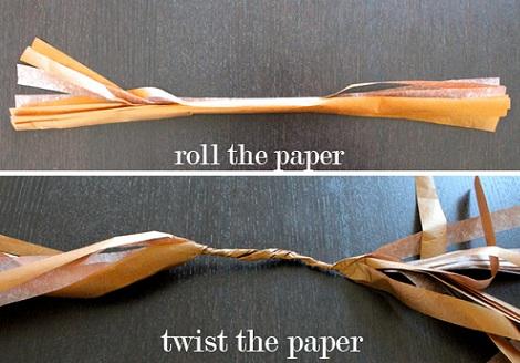 como hacer una guirnalda enrollar