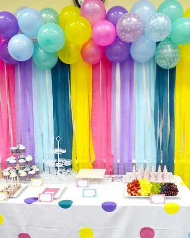 decorar con globos colores