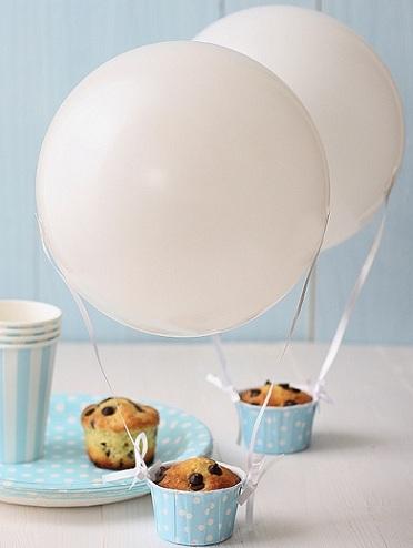 decorar con globos cupcakes