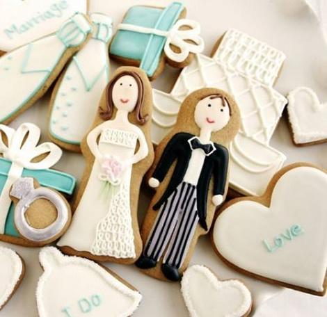 Galletas decoradas para boda