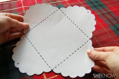 Hacer sobres de papel paso 1