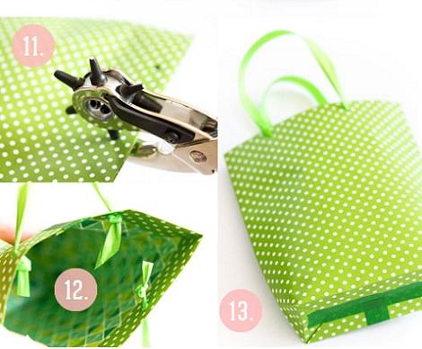 bolsas cumpleaños papel cuerdas
