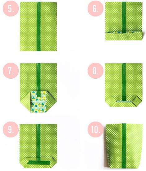 bolsas cumpleaños papel instrucciones
