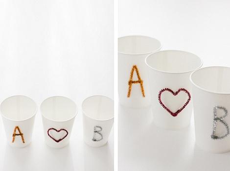 decorar vasos de papel ideas