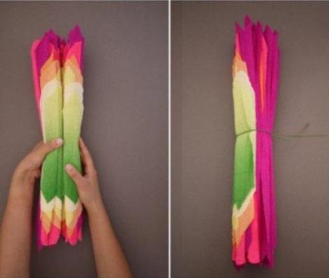 flores de papel pinocho alambre