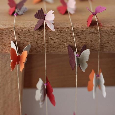 Guirnaldas de mariposas