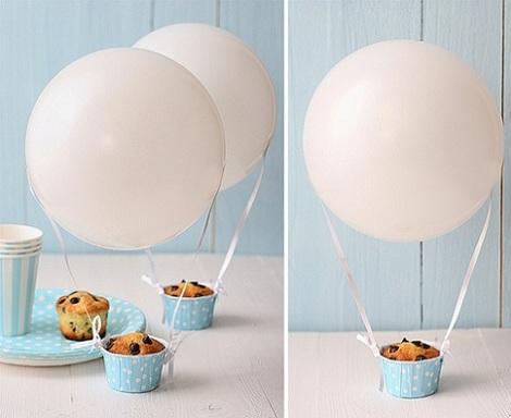 inspiracion globos cupcakes
