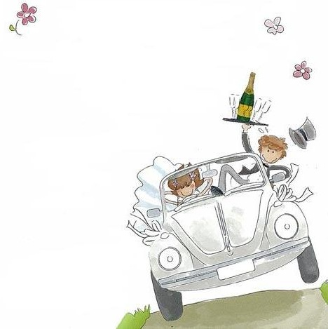 invitaciones boda imprimir coche