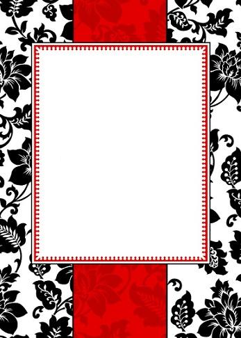 invitaciones boda imprimir negra roja