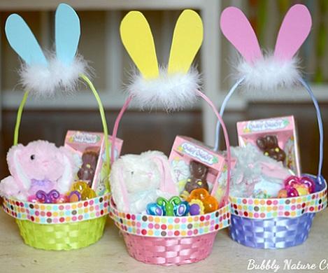 manualidades semana santa cestas pascua