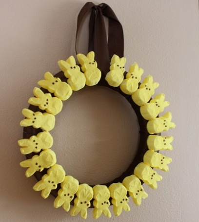manualidades semana santa corona conejos