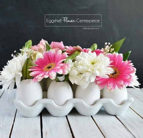manualidades semana santa huevos floreros