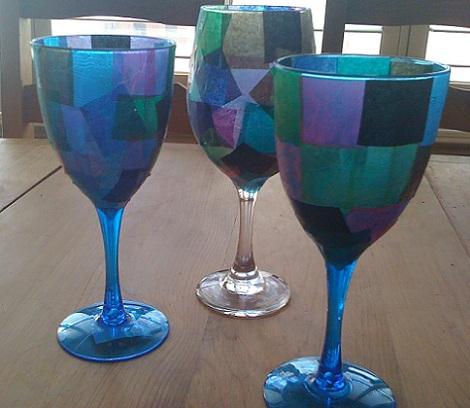 manualidades semana santa vasos vidriera