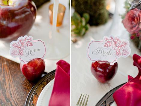 Mesa de bodas Blancanieves