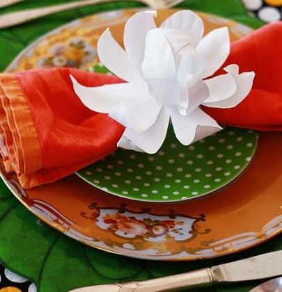 servilleteros originales flor