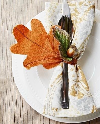 servilleteros originales hojas
