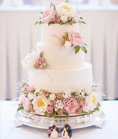 tartas boda originales flores
