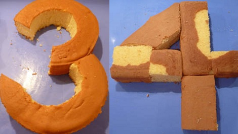 tartas formas numeros 3 4