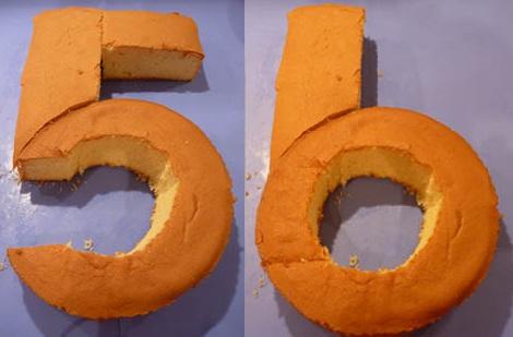 tartas formas numeros 5 6