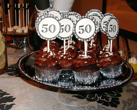 50 cumpleaños cupcakes