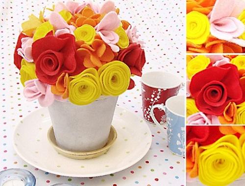 6 manualidades caseras dia de la madre ramo flores