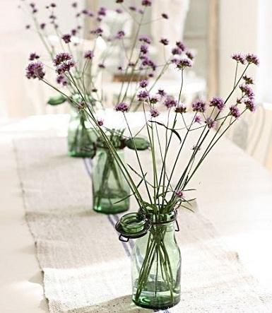 centros de mesa originales flores secas
