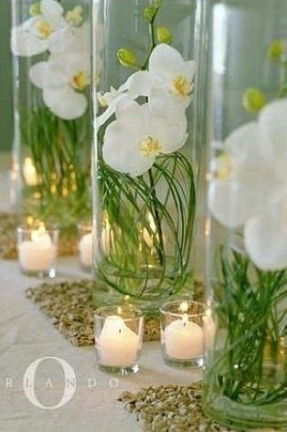 centros de mesa originales orquideas