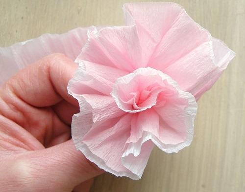 como hacer flores papel pinocho girar