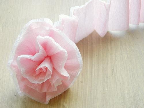 como hacer flores papel pinocho tallo