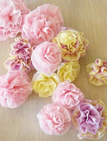 como hacer flores papel pinocho