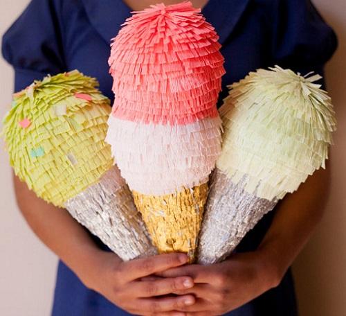 como hacer piñata helados resultado