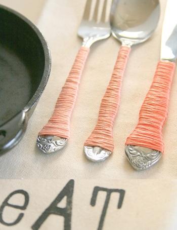 decorar cubiertos plata