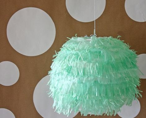 decorar lamparas papel colgar