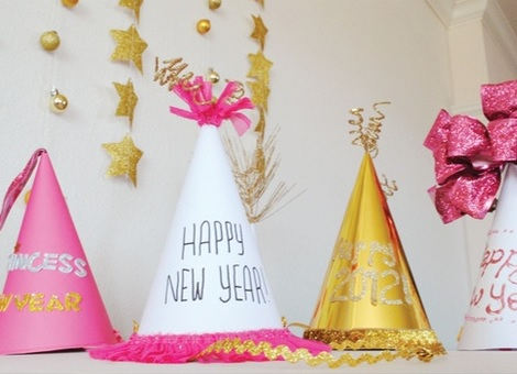 ideas fiesta fin de año gorros