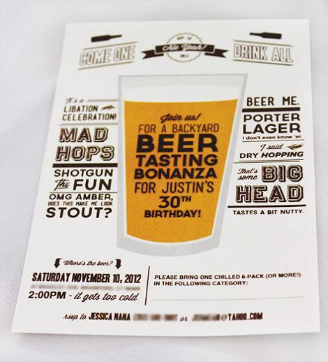 Invitación fiesta de cerveza