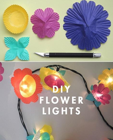 luces fiesta originales flores