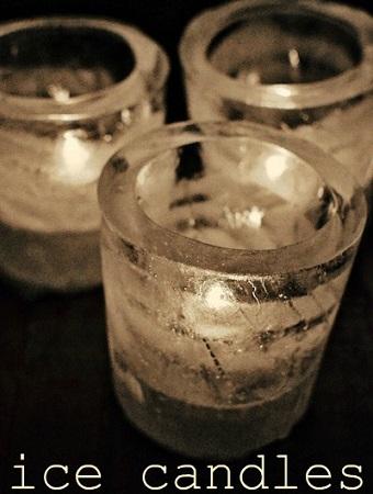 velas caseras hielo
