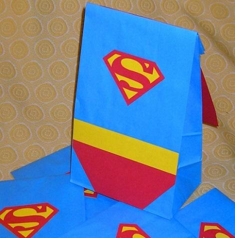 bolsitas cumpleanos superman