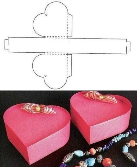 caja regalo casera corazon