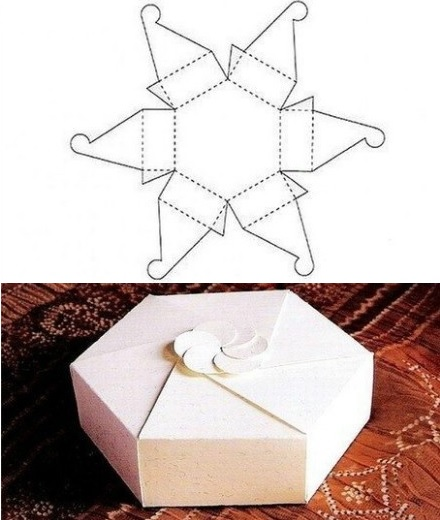 caja regalo casera hexagono