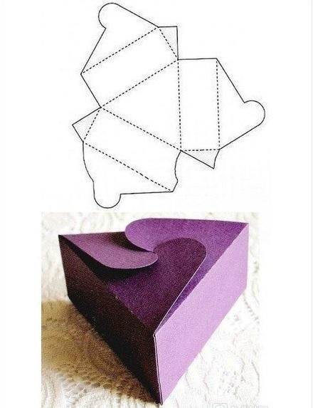 caja regalo casera triangulo