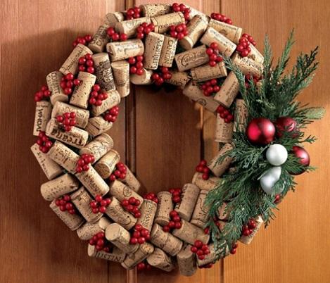 decoracion fiestas corchos botellas guirnalda navidad