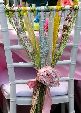 decoracion sillas eventos colores