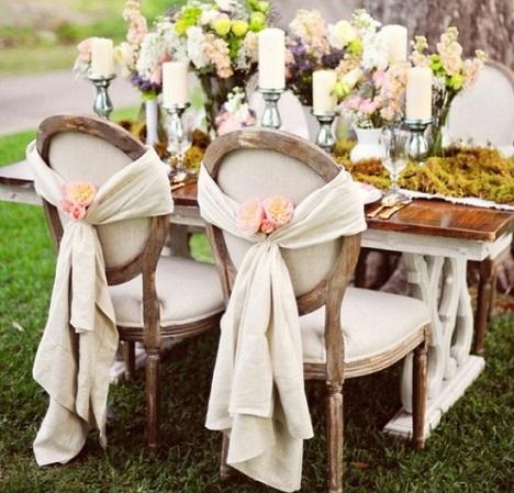decoracion sillas eventos lazo