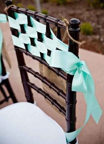 decoracion sillas eventos trenza