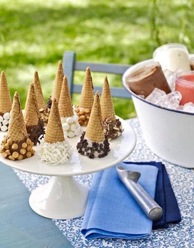 fiesta helado verano decoracion