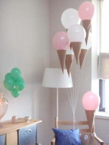 fiesta helado verano globos
